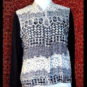 NEW BCNU black thin zip front jacket L